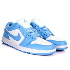 Air Jordan 1 Low SkyBlue And White Sneakers