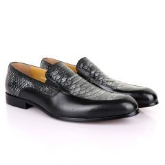 Terry Taylors Classic Black and Grey Leather Shoe