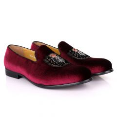 Terry Taylors Exotic Suede Crown Red Shoe