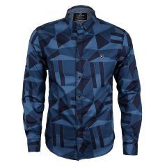 Bajieli Finest Quality Ace Designed Royal Long Sleeve Shirt-Blue
