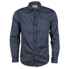 Badgley Dotted Well Styled Shirts-Blue