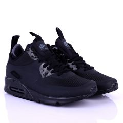 NK Max Flyknit Black Lace up Sneakers