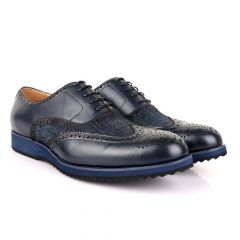 John Mendson Welted Classic Navy Blue Shoe