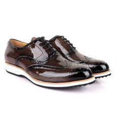 John Mendson Glossy Coffee Formal Shoe