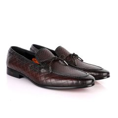 John Foster Classic Coffee Leather Formal Shoe