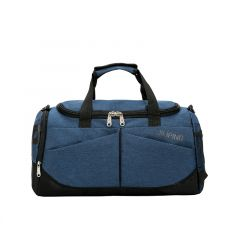 Vintage Multi-Dimensional Travel Bag- Blue