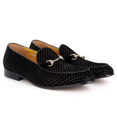 J.M Weston Classy Suede Checkers and Gold  Designed Shoe
