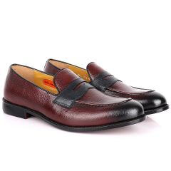 John Foster Wine Leather Loafers