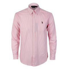 Polo Ralph Lauren Striped Standard-Fit Shirt Pink Strip For Men