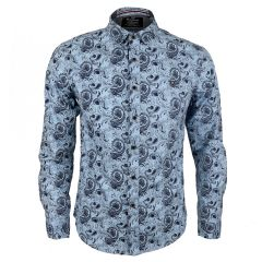 Badgley New York City Quality Finest Long Sleeve Shirt-Blue