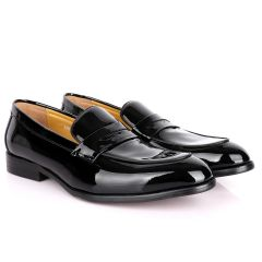 J.M Weston Black Wetlips Luxury Men's Loafers