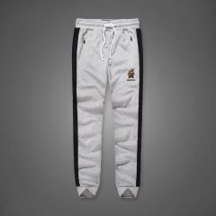 A&F Embroidered Bear Logo Designed Ash Joggers