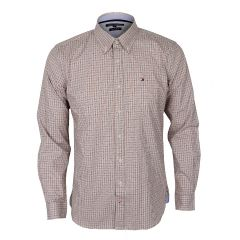 Tommy Hilfiger Checkered Custom Brown Long sleeve Shirt