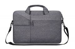 The Latest Casual Business Inner Padded Laptop Bag-Grey