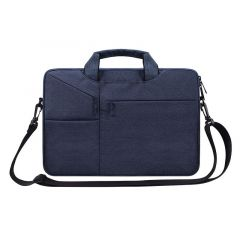The Latest Casual Business Inner Padded Laptop Bag-NavyBlue