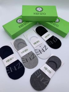 Kenzo foot cover 5 In 1 Black Grey White Navy Blue Ash socks