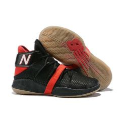 NB Omn1 Playoffs Nba Men Basketball Black and Red Sneakers