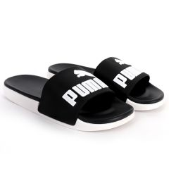 PM Royalcut Comfort All Black With White Rubber Sole Men's Slide