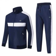 Lacoste Blue And White Strap Logo Design Tracksuit