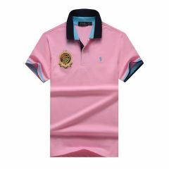 PRL Custom Fit Dual Toned Collar Premium Cotton Polo Shirt- Pink