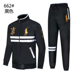 Polo RL With Big Pony  And Touch Of White Tracksuit -Black