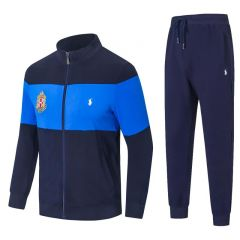 PRL Zippered Cotton-Blend Fleece Tracksuit