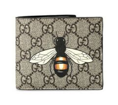 GG Supreme Butterfly Leather Wallet