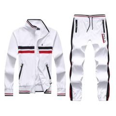 PRL Tracksuit Small Pony Black Red Front Strap designed