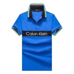 CK Classic Cotton Tipping Slim Polo Blue