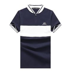 EMP Exquisite Zip up NavyBlue With WhIte Design Cotton Polo
