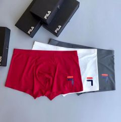 Fil 3 In 1 Comfortable Body-Suited White, Ash And Red Men's Boxers