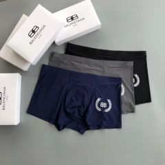 Balen 3 In 1 Comfortable Body-Suited Black, Grey And Blue Men's Boxers