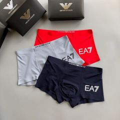 Emp 3 In 1 Cotton Comfortable Body-Suited Ash, Red And Blue Men's Boxers
