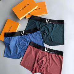Lou Comfortable Body-Suited 3 In 1 Cotton Logo Designed Briefs
