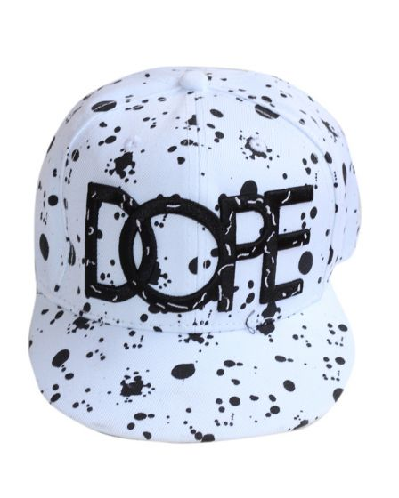DOPE Baseball White Mixed Black Cap