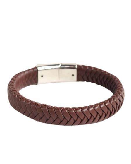 Sailimue Braided Unisex Brown Leather Bracelets
