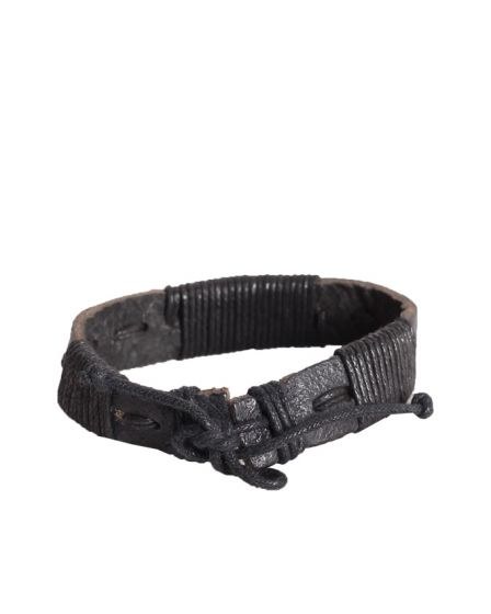 Crucible Men's Stainless Steel Black Bracelet