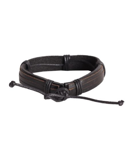 Special celtic Unisex Black leather bracelet