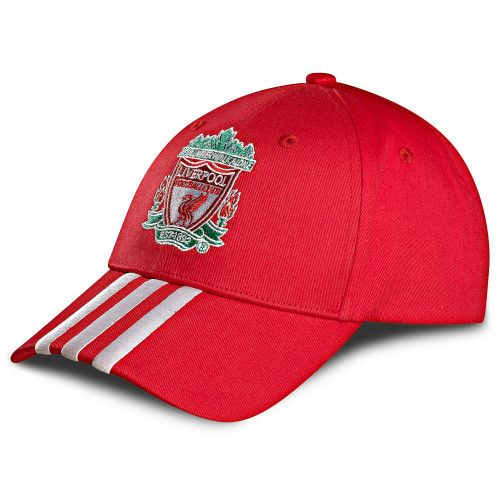 Liverpool FC Adidas Baseball Red and White Stripe Cap