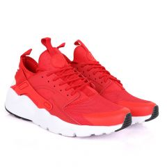 NK Huarache Ultra Red and White Sneaker