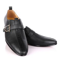 Terry Taylors Black Side Buckle Formal Shoe