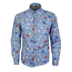 Badgley Executive Style Collection LongSleeve Shirt- SkyBlue