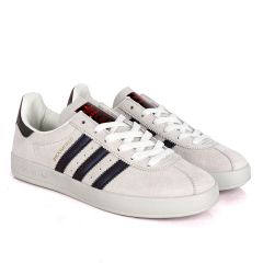 AD Originals BroomField Off-White Suede Sneakers With 3 Maceron Stripes
