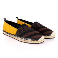 Fendi Roma CowHide Yellow Apricot Shoe