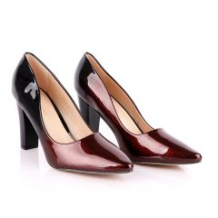 Atmosphere Wetlips Classic Red Thick High Heel Women's Shoe