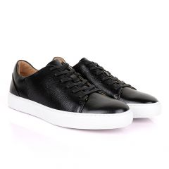 Terry Taylors Cooperate Oxford Black Leather Sneaker Shoe