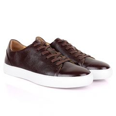 Terry Taylors Laceup coffee With White Sneakers shoe