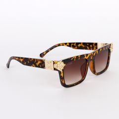 Louis Vuitton Crested Summer Square Unisex Brown Sunglasses
