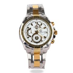 Casio Edifice Efr Gold and Silver Stainless Watch