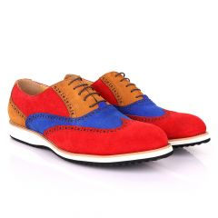 Terry Taylors  Oxford Red with Blue And Brown Mix shoe